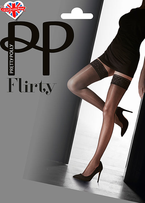 13df2bf988a Pretty Polly Flirty Lace Top Hold Ups In Stock At UK Tights