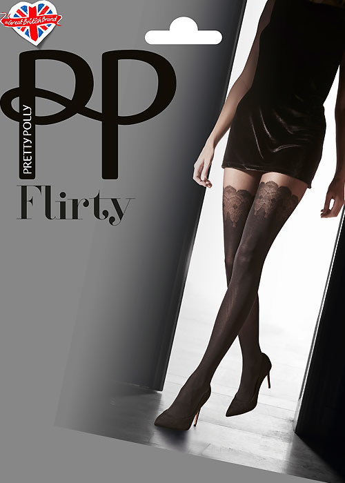 Pretty Polly Flirty Mock Lace Hold Ups Tights