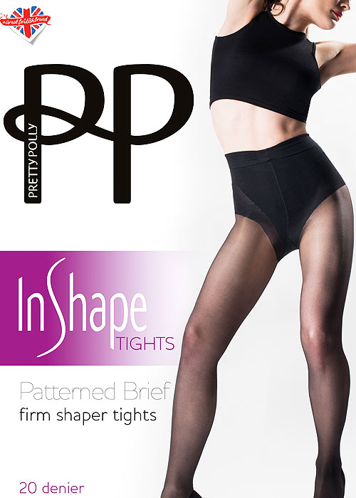 Pretty Polly In Shape Patterned Brief Firm Shaper Tights