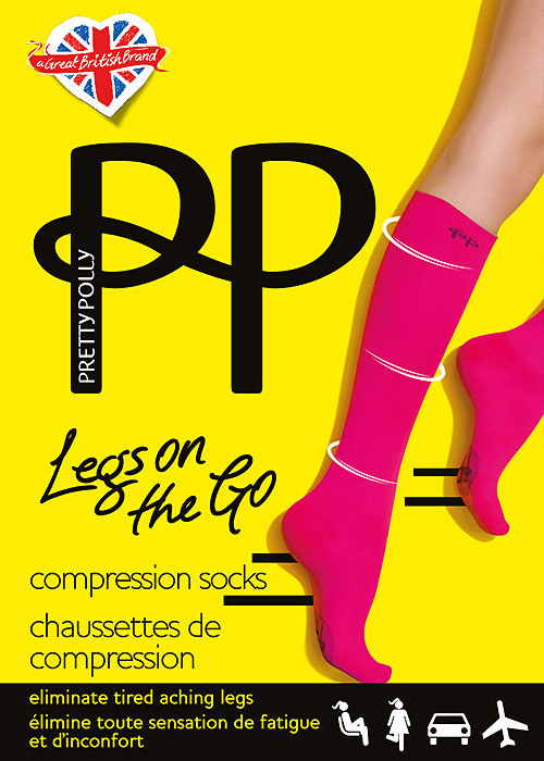 Pretty Polly Legs On The Go Compression Socks