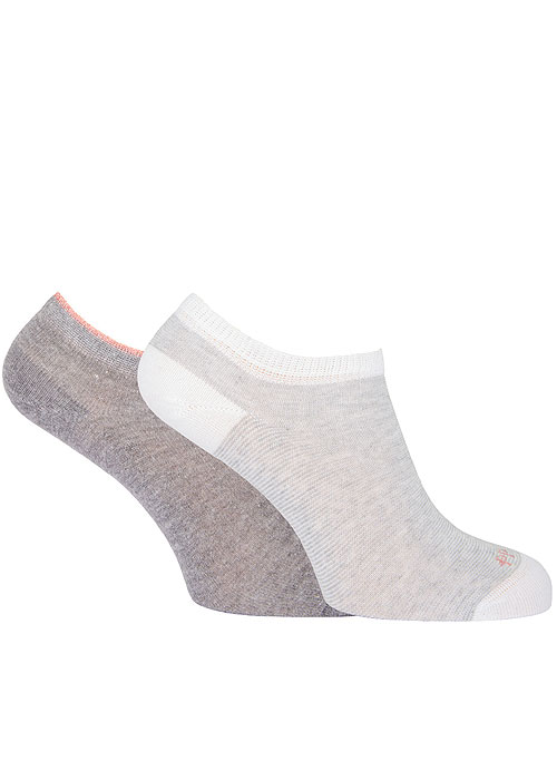 Pretty Polly Marl And Stripe Trainer Liner 2PP