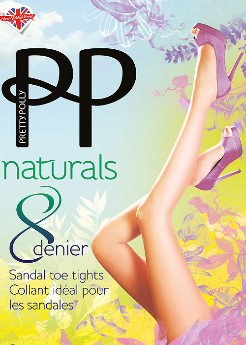 Pretty Polly Naturals Sandal Toe Tights Zoom 3
