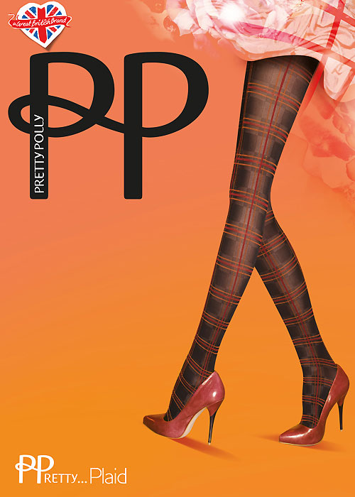 Pretty Polly Pretty Plaid Tartan Highlight Tights