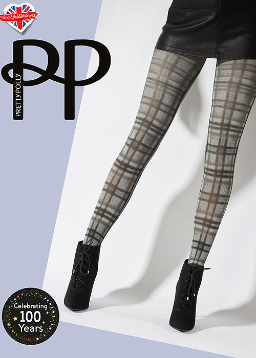 1960s Tights, Stockings, Panty Hose, Knee High Socks Pretty Polly Printed Tartan Tights £19.99 AT vintagedancer.com