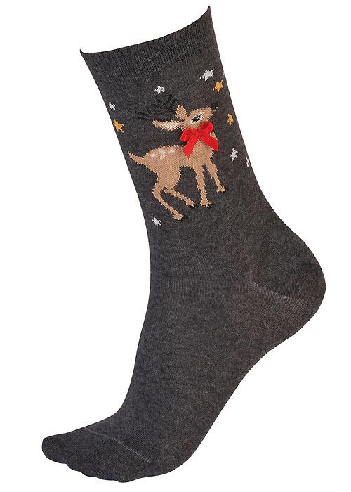 Pretty Polly Reindeer Socks