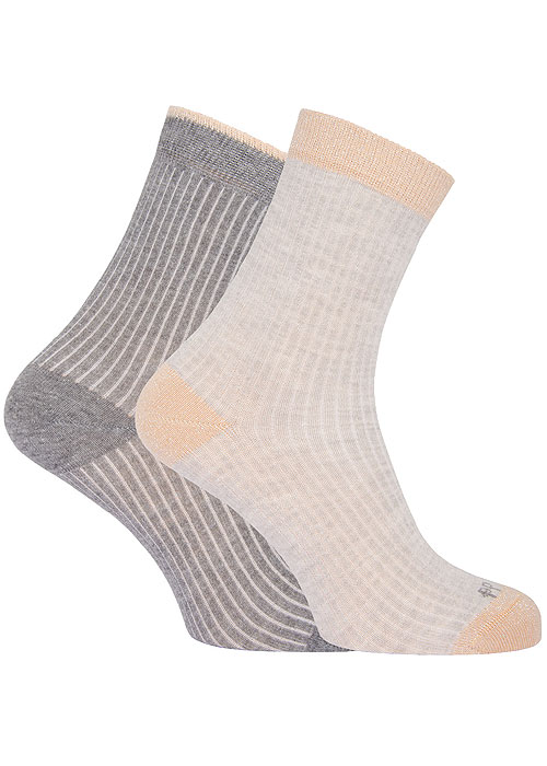 Pretty Polly Rib Effect Socks With Lurex 2PP Zoom 2