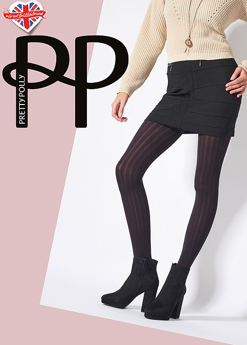 Mistress Tights Pretty Polly Printed Backseam Tights Up To 42 In Hip