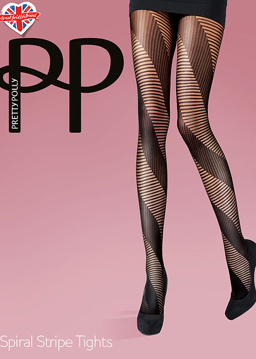 Pretty Polly Spiral Stripe Tights