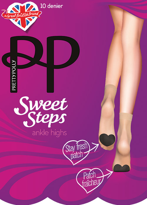 Pretty Polly Sweet Step 10 Denier Ankle Highs