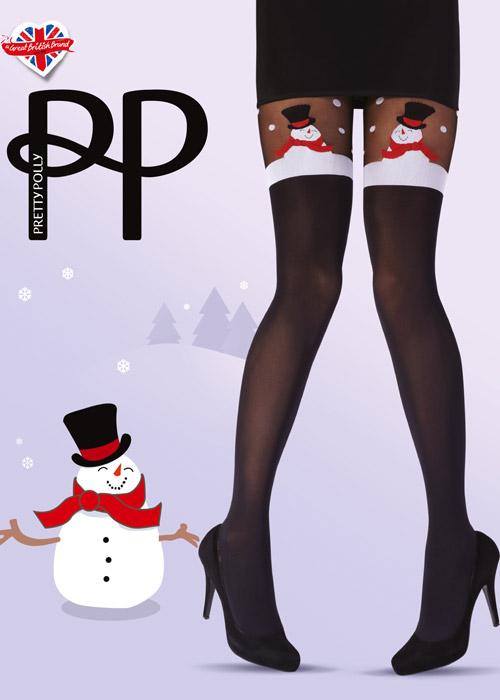 Pretty Polly Xmas Snowman Tights