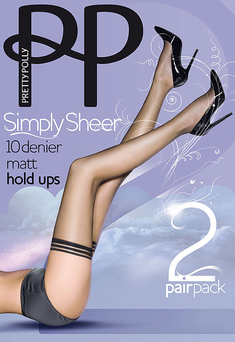 Pretty Polly Simply Sheer Hold Ups (2 Pair Pack)