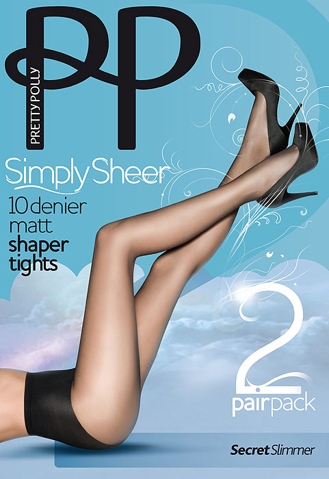 Pretty Polly Simply Sheer Shaper Tights (2 Pair Pack)