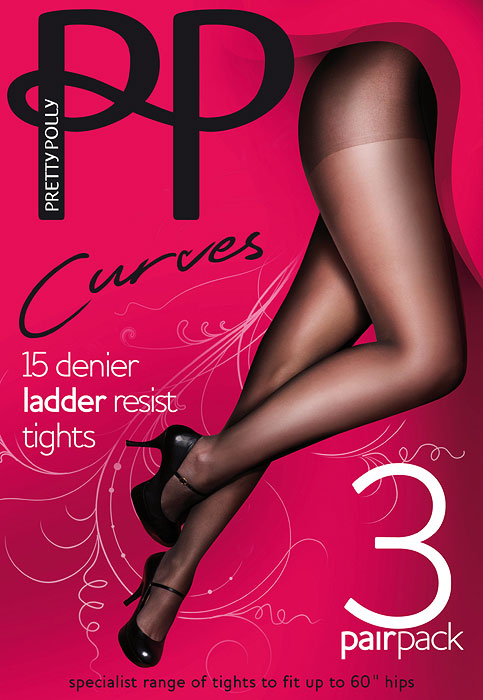 Pretty Polly Curves Ladder Resist Tights 3PP