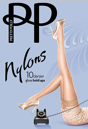 Pretty Polly Nylons Lace Top Hold Ups