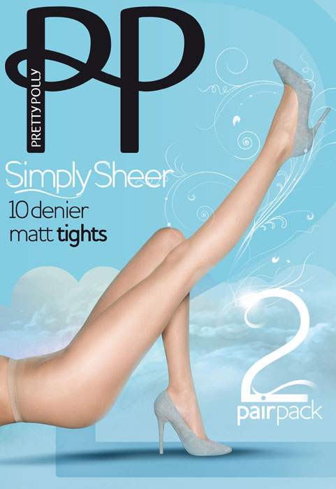 d1b867e3c940a Pretty Polly Simply Sheer Tights (2 Pair Pack) In Stock At UK Tights