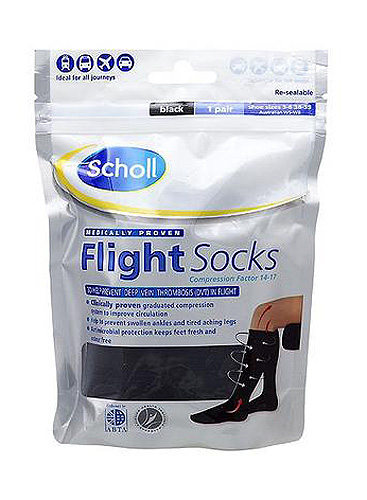 Scholl Opaque Flight Socks Black