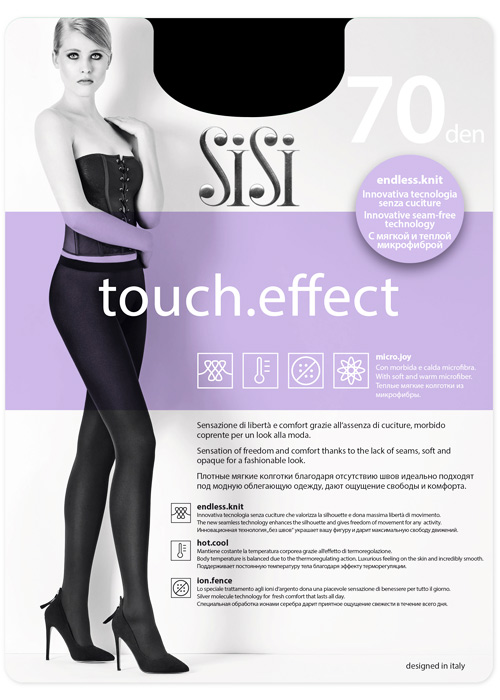 Sisi Touch Effect 70 Opaque Black Tights