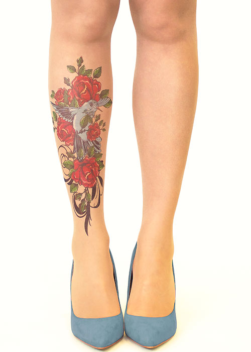 Stop And Stare Bird And Roses Tights