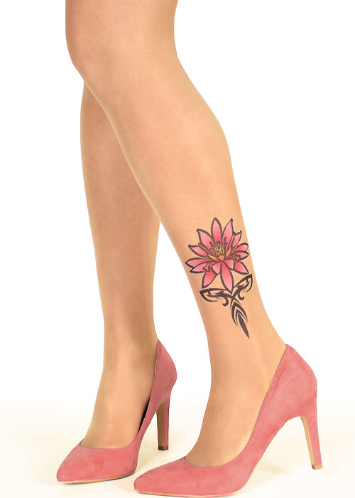 Stop And Stare Tribal Water Lily Tights