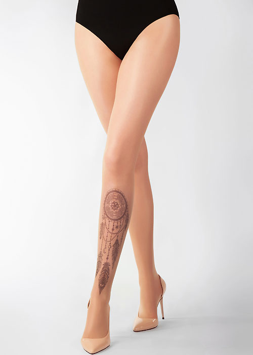 Stop And Stare Black Dream Catcher Tights