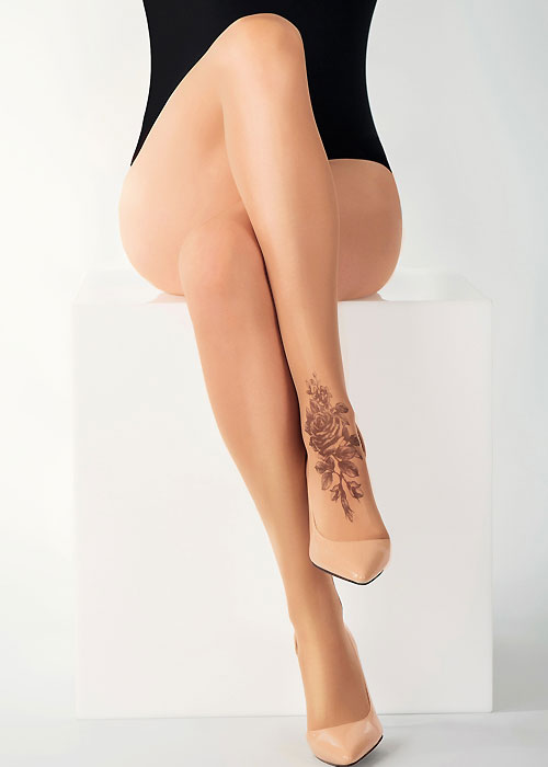 Stop And Stare Shaded Rose Tights