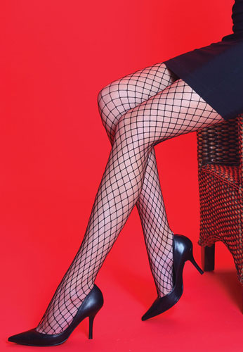 1960s Tights, Panty Hose, Stockings, Knee High Socks Medium Net Tights £3.99 AT vintagedancer.com