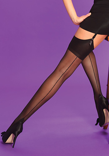 Silky Scarlet Seamer Stockings