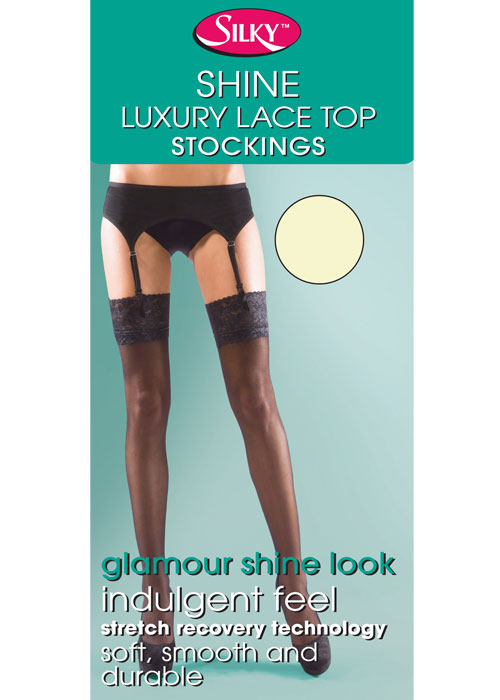 Silky Super Shine Lace Top Stockings