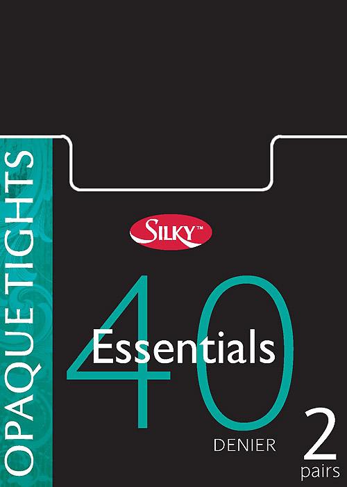 Silky Essentials 40 Denier Opaque Tights 2 Pair Pack