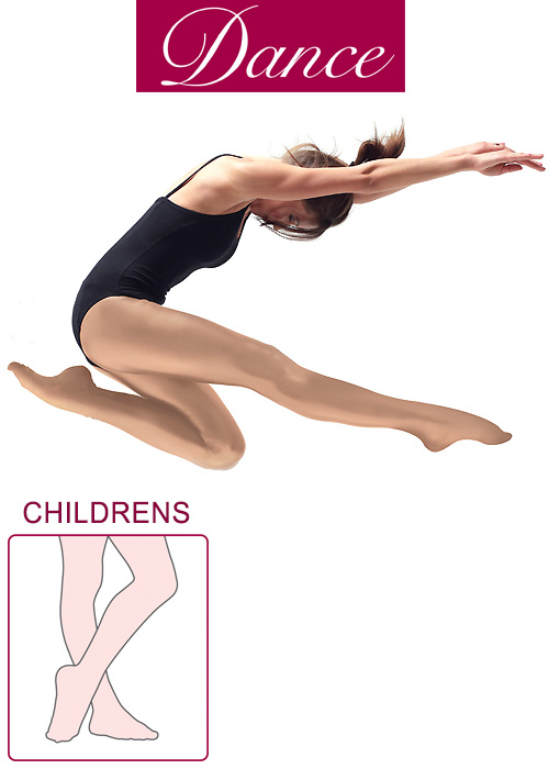 Silky Dance Childrens Shimmer Full Foot Dance Tights