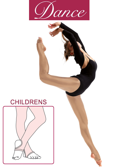 Silky Dance Childrens Shimmer Stirrup Dance Tights