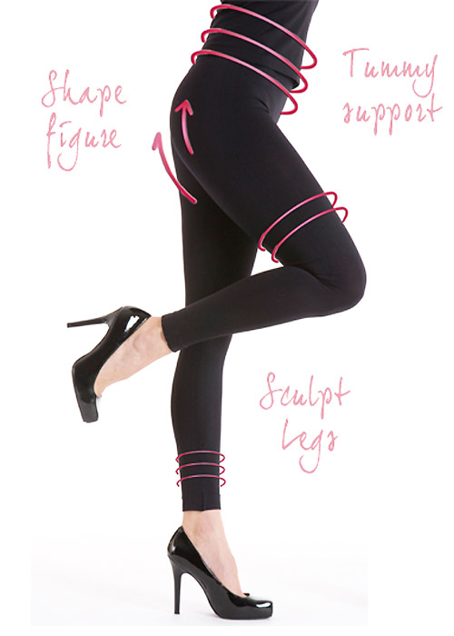 Silky Look Great Shaping Leggings