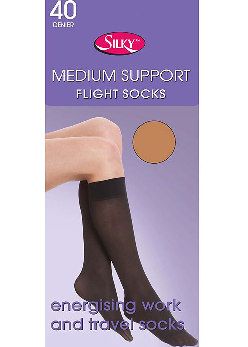 Silky Medium Support Flight Knee Highs