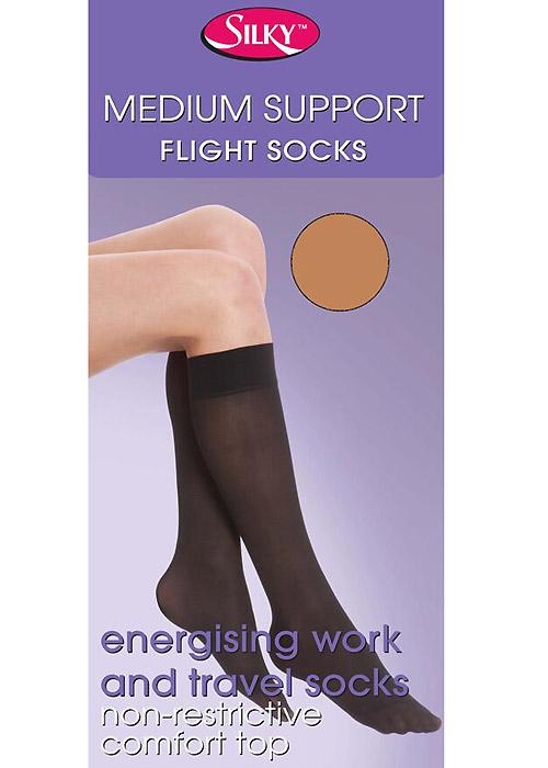 Silky Medium Support Flight Knee Highs