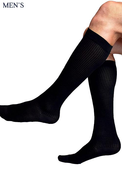 Silky Mens Cotton Rich Compression Socks