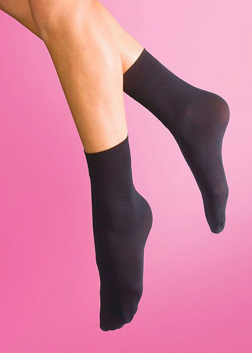 Silky Soft Opaque 40 Denier Ankle Highs 3 Pair Pack