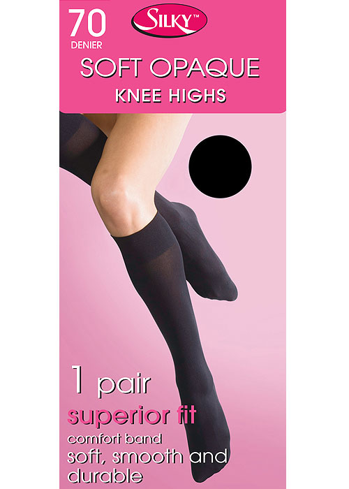 Silky Soft Opaque 70 Denier Knee Highs