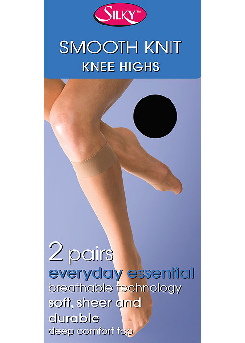 Silky Smooth Knit Knee Highs (2PP)