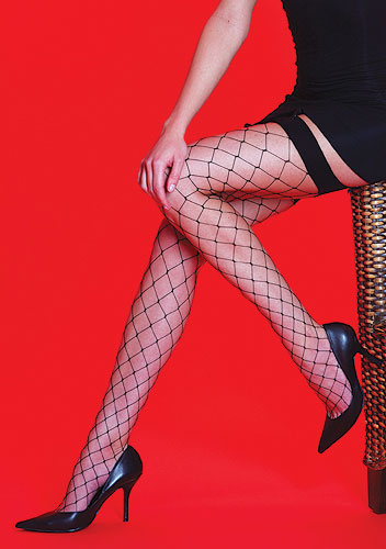 Silky Scarlet Whale Net Stockings