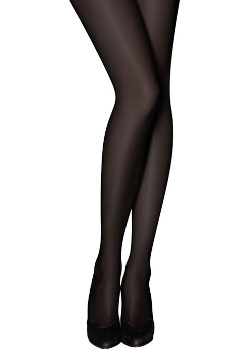 Tiffany Quinn 40 Denier Opaque Black Tights