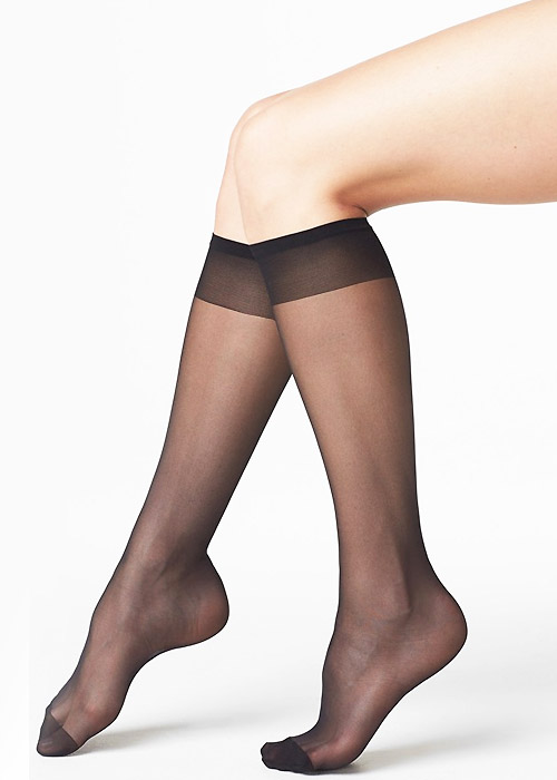 Tiffany Quinn 15 Denier Comfort Top Knee Highs 4 Pair Pack