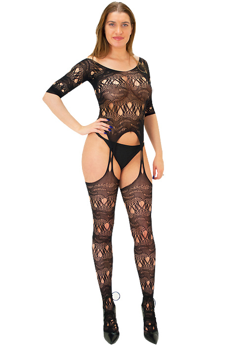 Tiffany Quinn Jessica Three Quarter Sleeve Lace Bodystocking