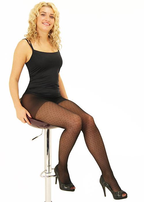 Tiffany Quinn Sheer Net Dot Tights