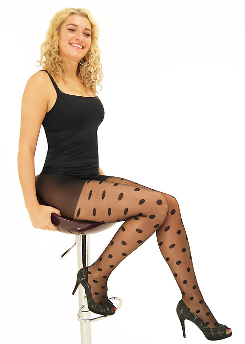 Tiffany Quinn Sheer Penny Spot Tights