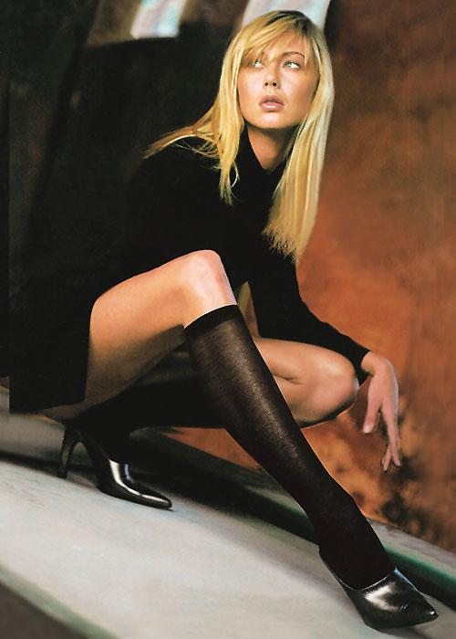 Trasparenze Liscio Cotton Knee Highs