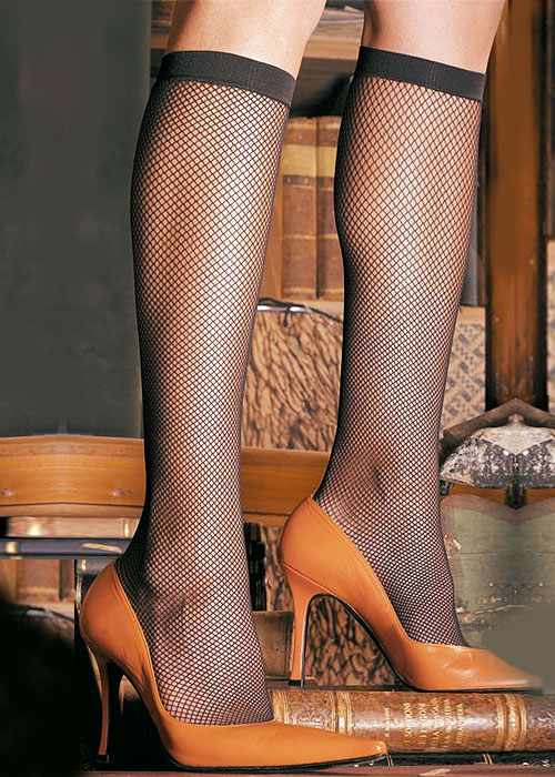 Trasparenze Ambra Coloured Fishnet Knee Highs