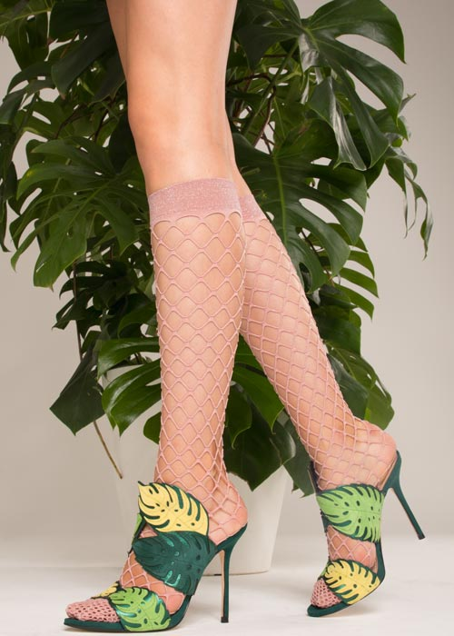 Trasparenze Ananas Net Knee Highs