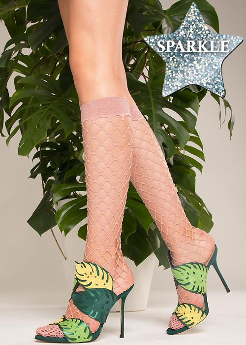 Trasparenze Ananas Sparkle Net Knee Highs