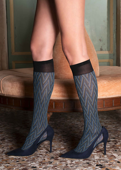 Trasparenze Cerbero Knee Highs