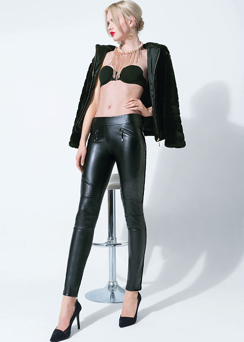 Trasparenze Fez Faux Leather leggings